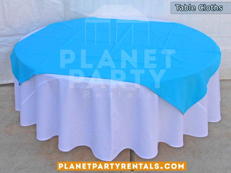 Table Cloths | Round Tables with Color Diamond/Runner