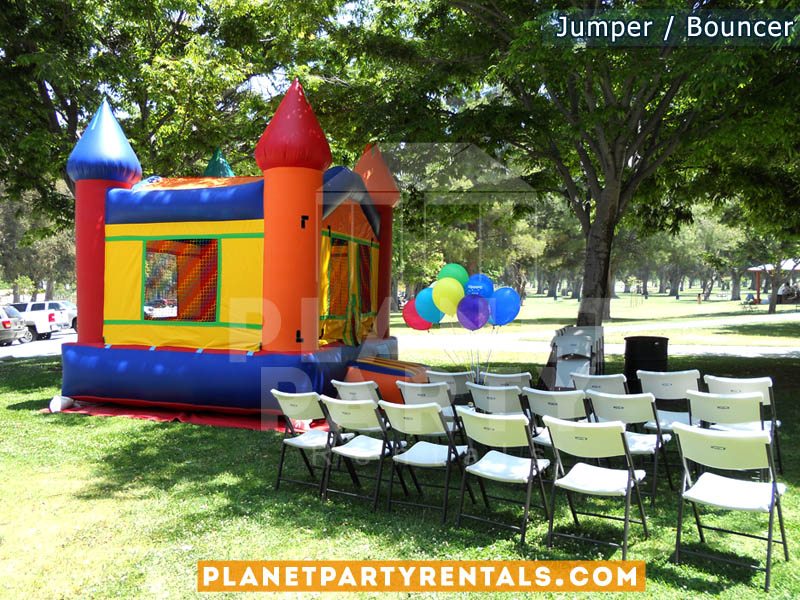 Jumper/Moon-Bouncer rentals | Jumper rentals packages with tables and chairs available | San Fernando Valley | Santa Clarita | West Los Angeles | Simi Valley