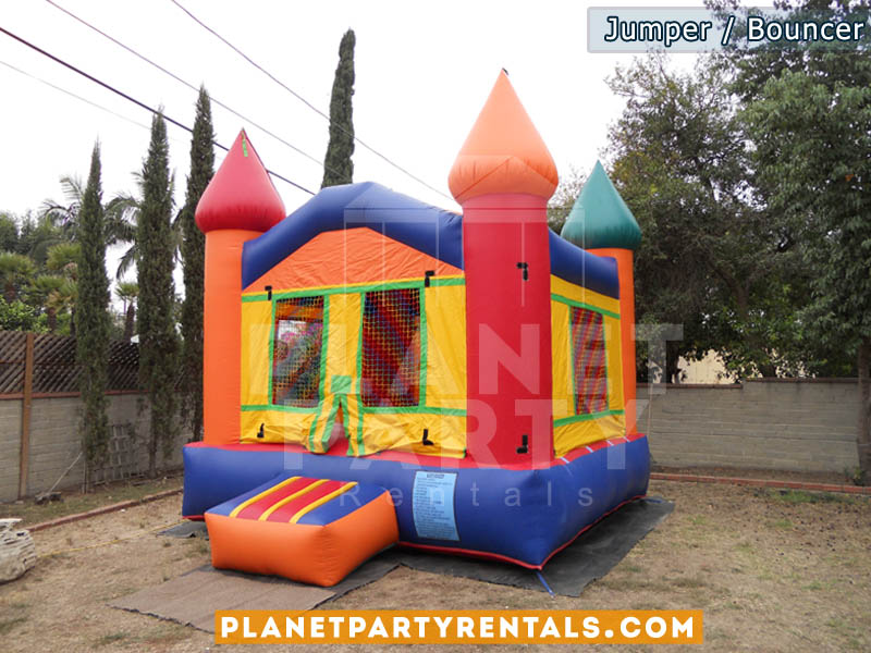 13ft x 13ft Jumper Castle multicolored bouncers | San Fernando Valley Jumper Rentals