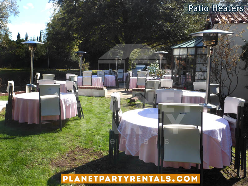 Patio Heater Rentals for Weddings Events Quinceaneras | Outdoor Heater rental includes propane gas and free delivery in the San Fernando Valley