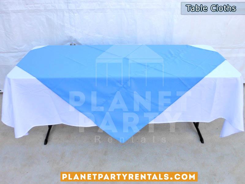 Rectangular Table Cloth with Overlay/Diamond | Table Cloth | Linen Rentals | San Fernando Valley