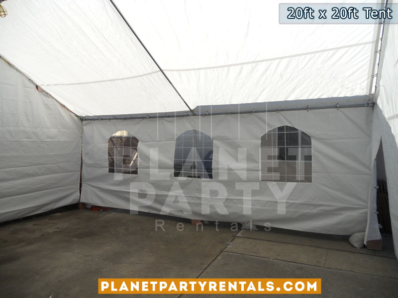 20x20 van nuys party tent rentals white tent rentals includes sidewalls