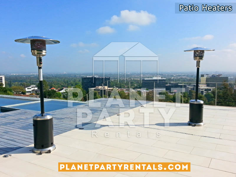 Black Stainless Steel Outdoor Patio Heater with Wheels
