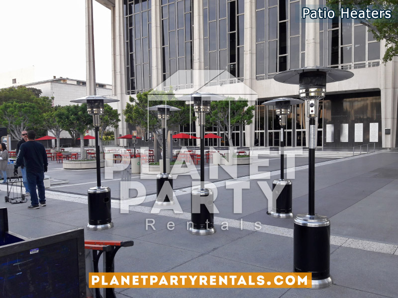 Black Outdoor Patio Heaters | San Fernando Valley Space Heater Rentals