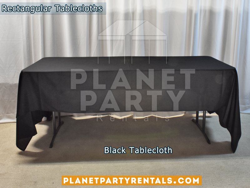 Black color Rectangular Tablecloth for 6ft Rectangular Table
