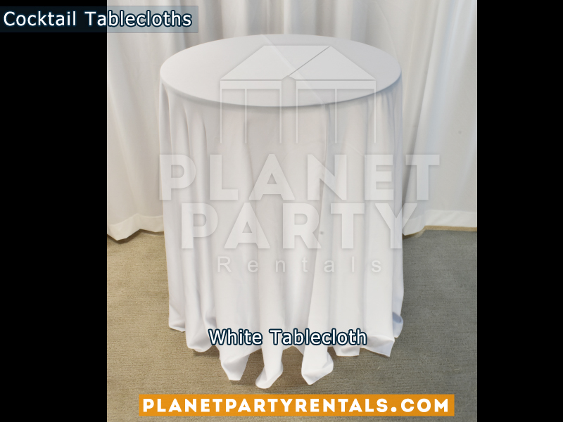 Cocktail Tablecloth Floor Length Color White