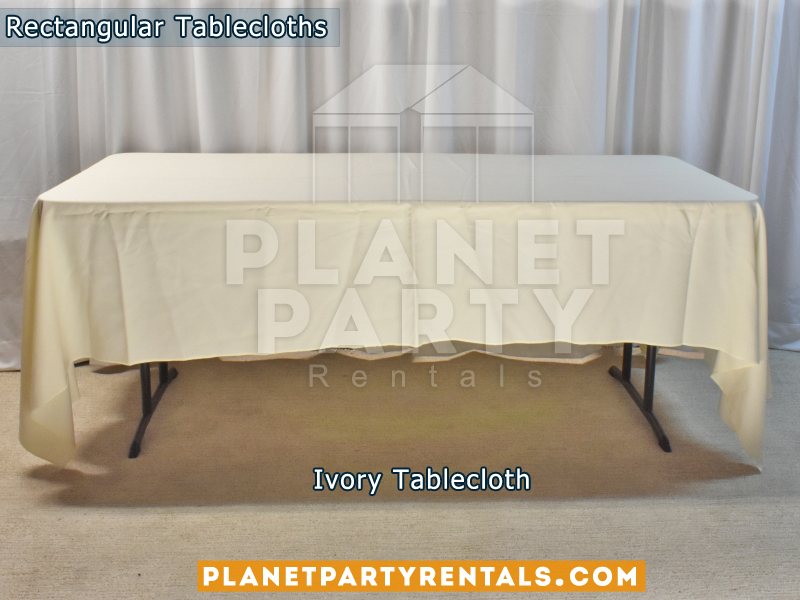 Ivory color Rectangular Tablecloth for 6ft Rectangular Table