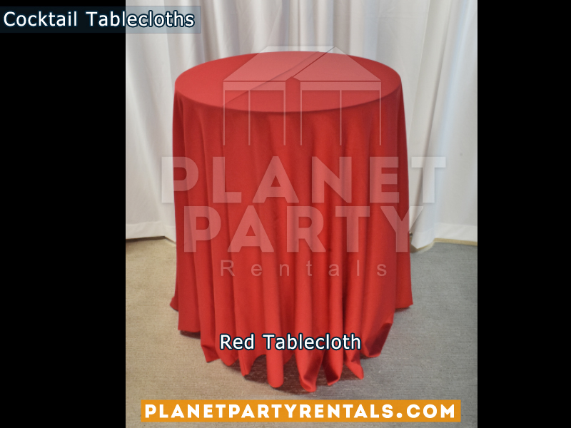 Cocktail Tablecloth Floor Length Color Red