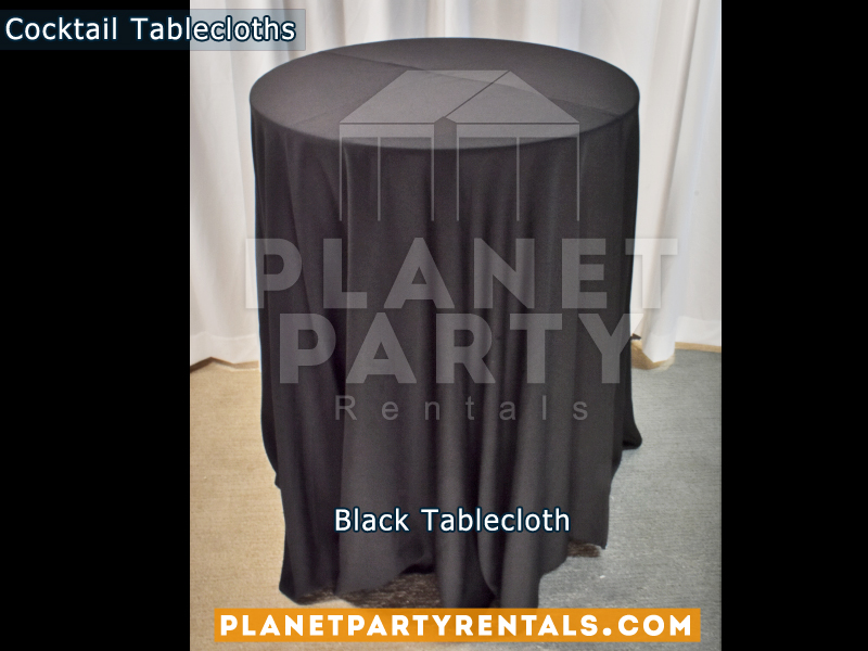 Cocktail Tablecloth Floor Length Color Black