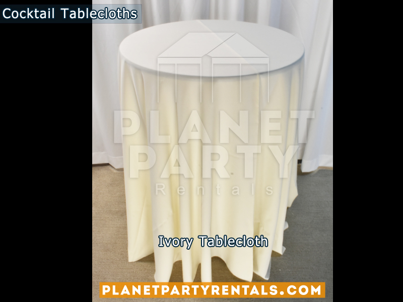 Cocktail Tablecloth Floor Length Color Ivory