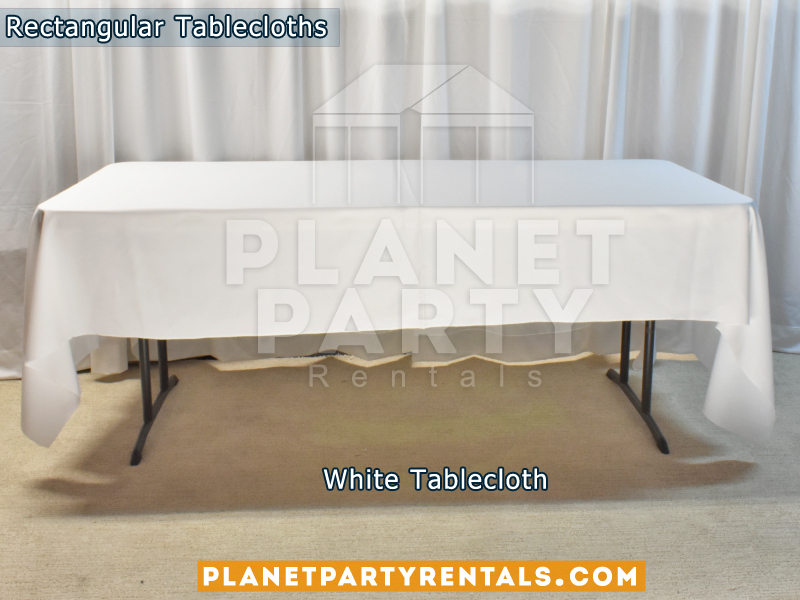 White color Rectangular Tablecloth for 6ft Rectangular Table