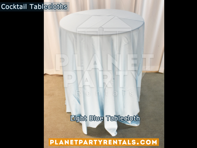 Cocktail Tablecloth Floor Length Color Light Blue