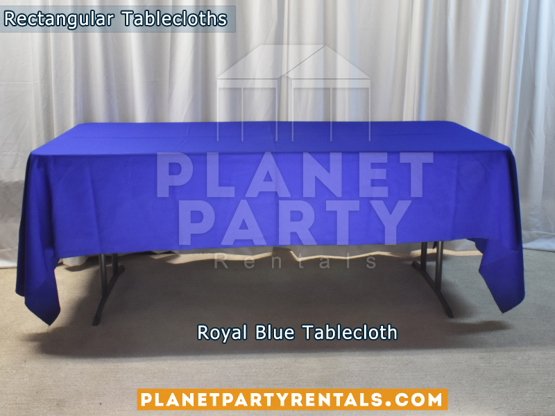 Royal Blue color Rectangular Tablecloth for 6ft Rectangular Table