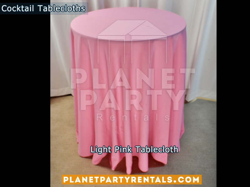 Cocktail Tablecloth Floor Length Color Light Pink