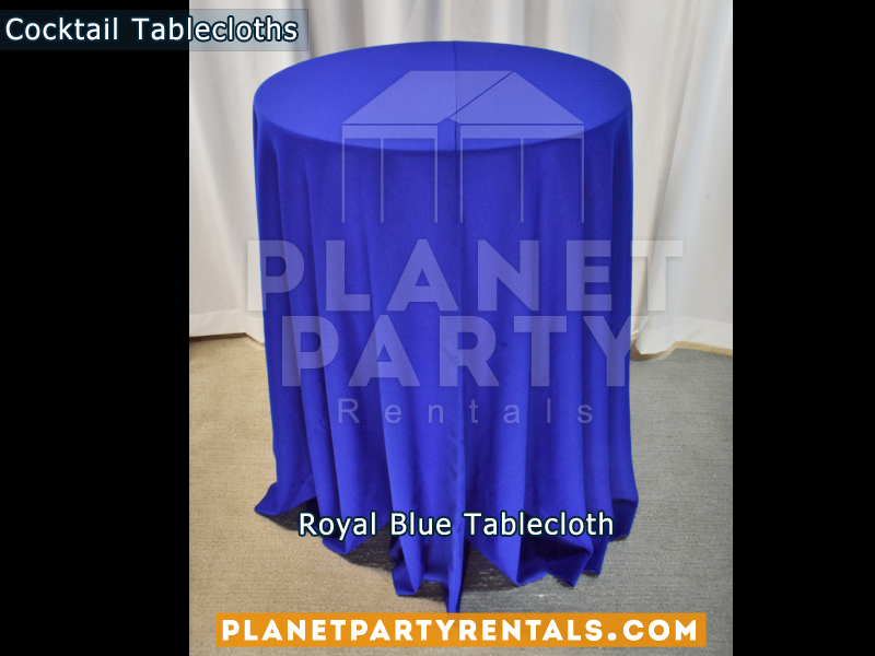 Cocktail Tablecloth Floor Length Color Royal Blue