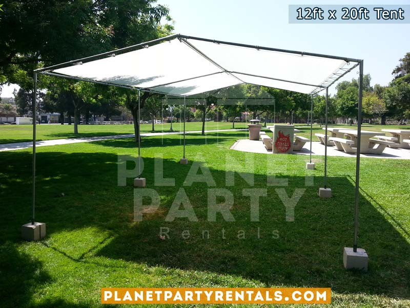 12x20 Tent setup on grass