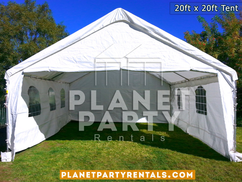 20x20 Tent with Window Panel walls on Grass